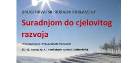 Drugi Hrvatski ruralni parlament – preliminarni program